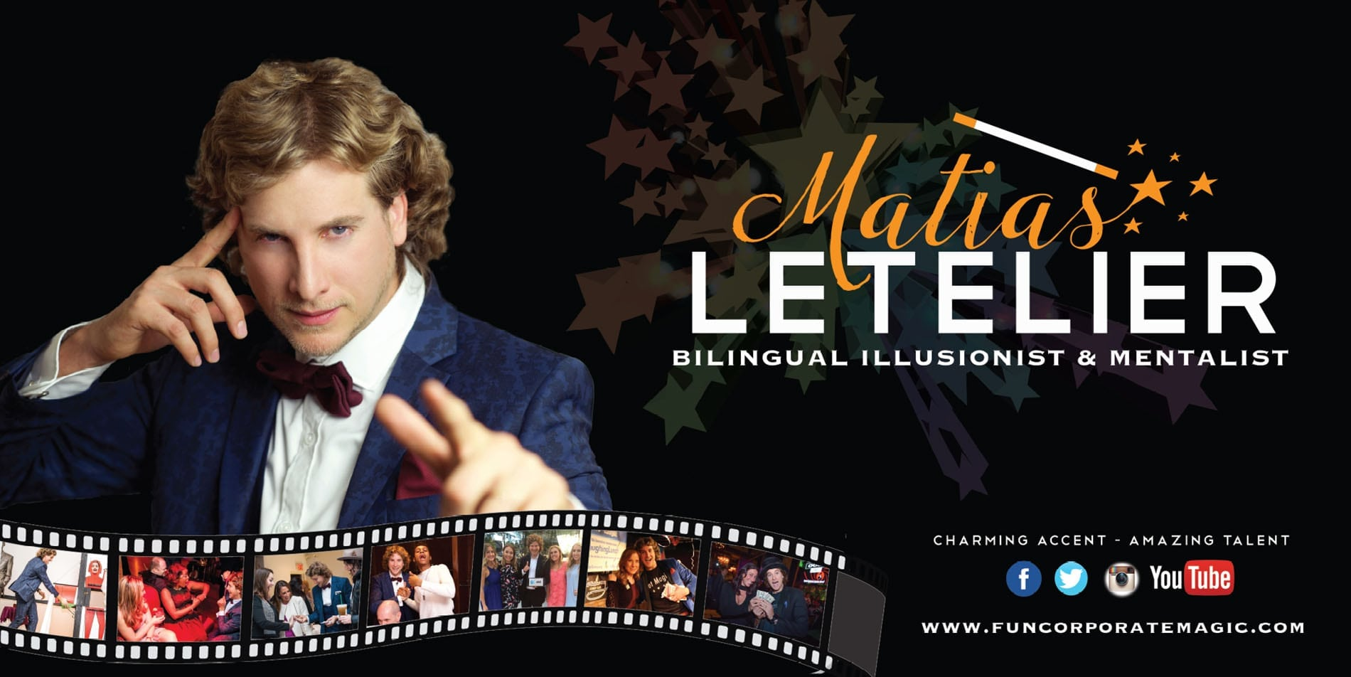 Illusionist & Mentalist Matias Letelier Banner