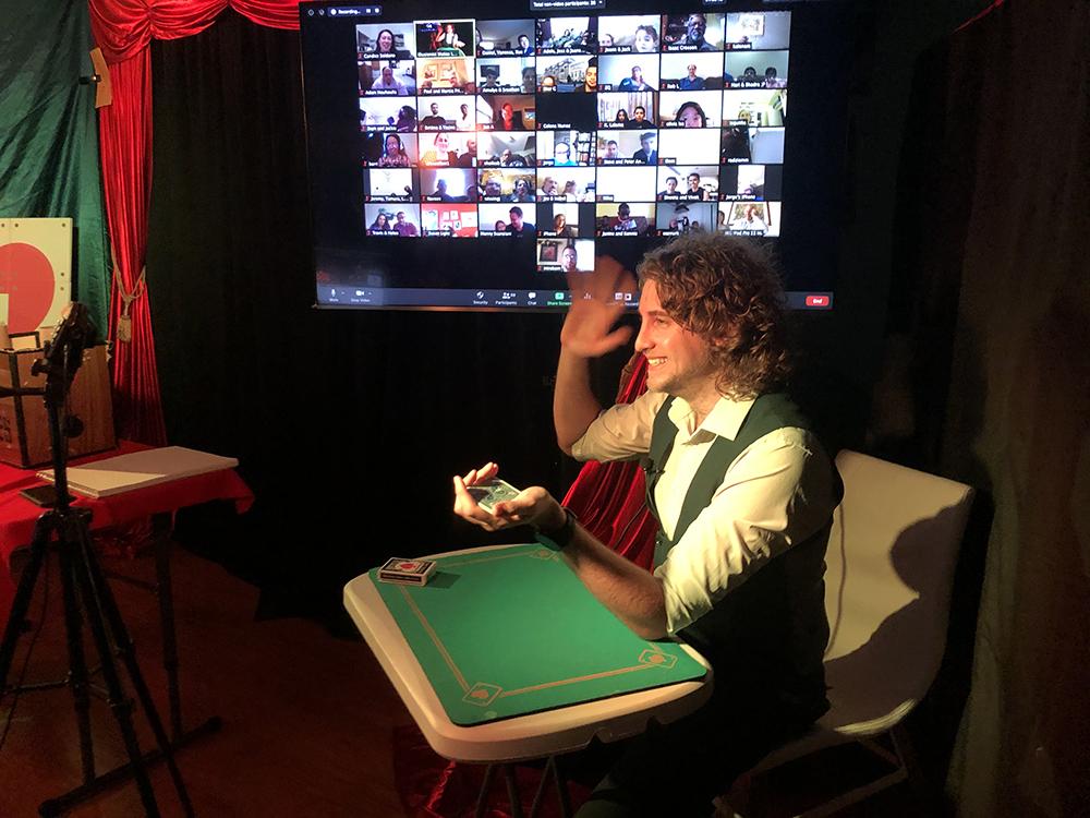 Virtual Magic Show - Small Stage Hello